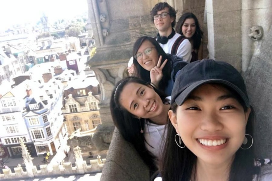 Olivia and friends in Oxford