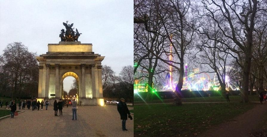 London parks in winter
