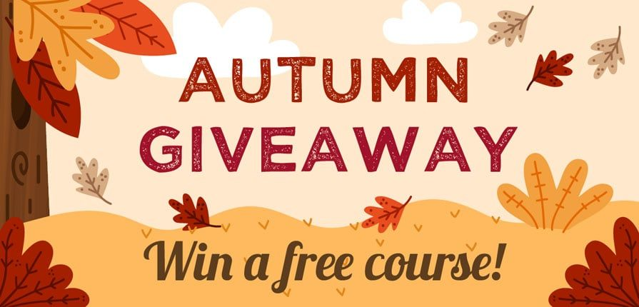 autumn giveaway - win a free online English course