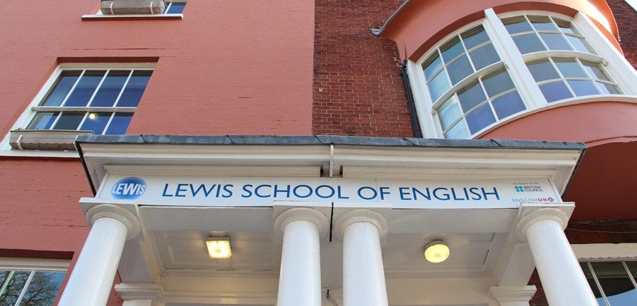 Lewis School of English front door